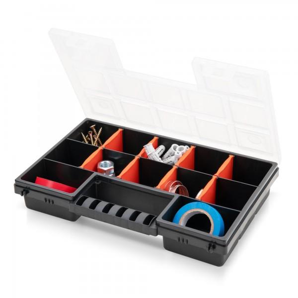 Kunststoff Sortimentskasten - 12 anpassbare Fächer - 287x186x50 mm