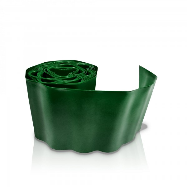 Rasenkante 10 cm x 9 m dunkelgrün