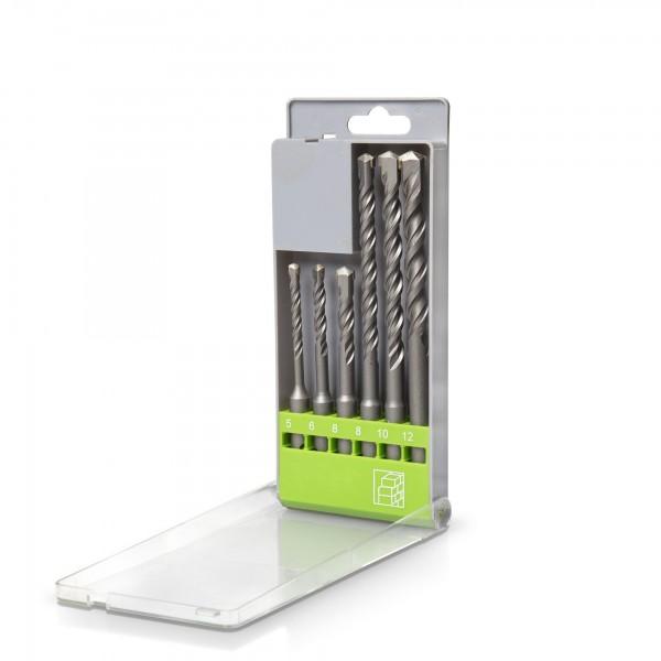 6-tlg. Steinbohrersatz SDS-Plus - 5 bis 12 mm