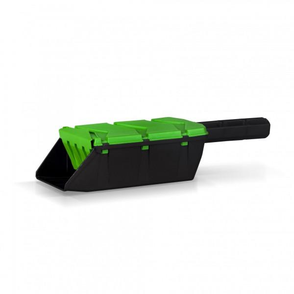 Streuschaufel SHARKIE - grün/schwarz