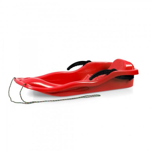 Kunststoffbob RACE rot + Bremse + Leine 40 x 87 cm