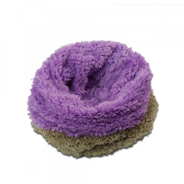 3in1 Decke - Schlafsack - Kissen für Tierbabys - Fleece - Beige + Lila
