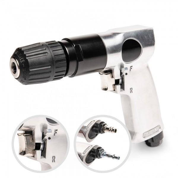 Druckluftbohrmaschine mit Rechts-/Linkslauf - 10 mm