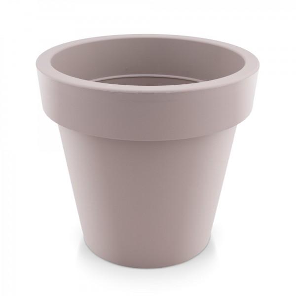 Kunststoff Blumentopf - mocca - Höhe 144 mm