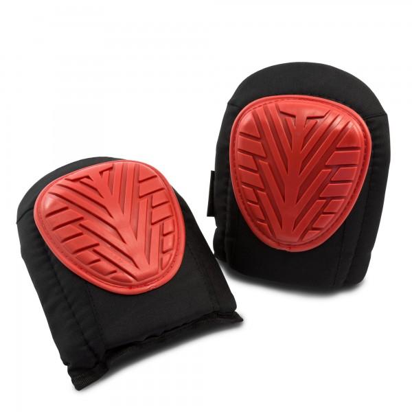 1 Paar Gel-Knieschoner - schwarz/rot - 24 cm