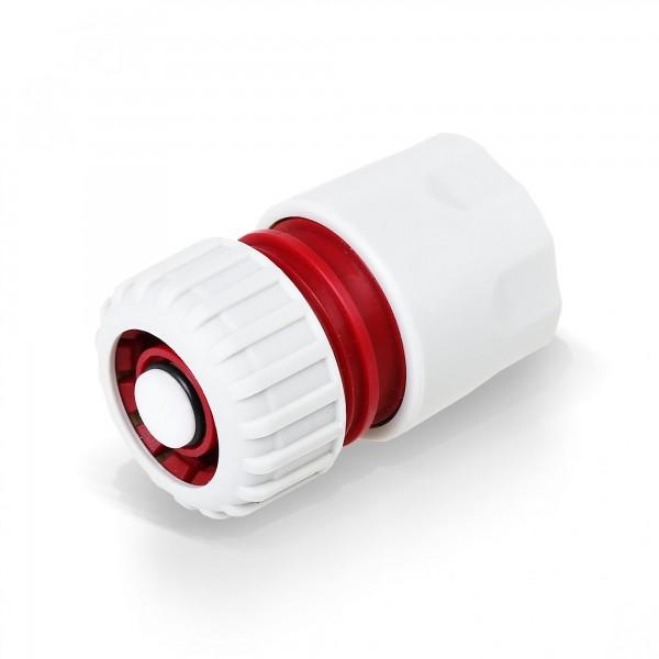 Berlan Schlauchstück mit Wasserstop 3/4'' mit 3/4'' Steckverbinder -RED LINE-