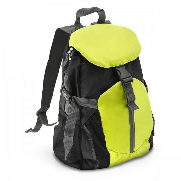 Rucksack 20 Liter grün / schwarz - faltbar