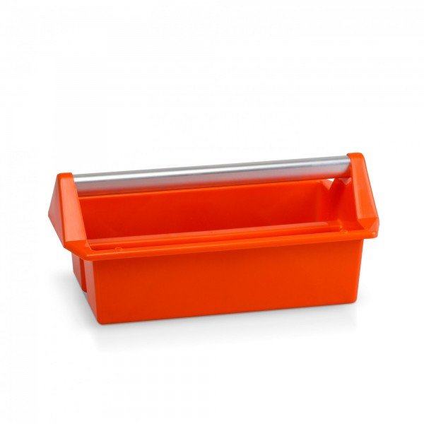 Werkzeug Tragekasten 40 x 22,5 cm (2 Fächer) - Orange