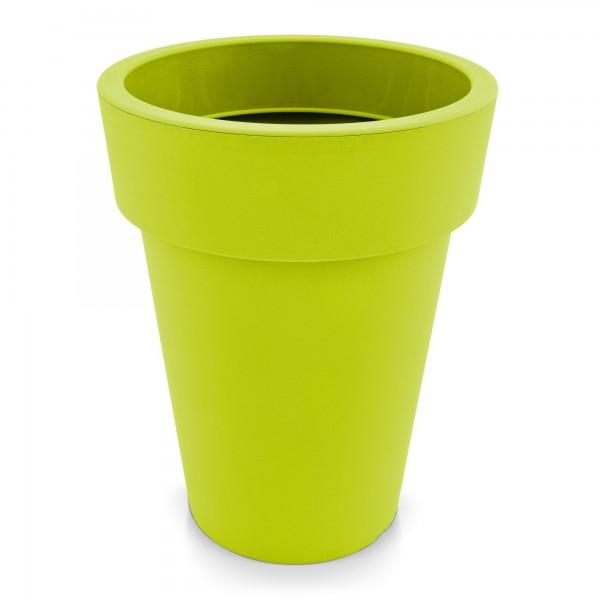 Kunststoff Blumentopf schmal mintgrün - Höhe 319 mm