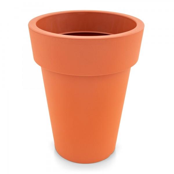 Kunststoff Blumentopf schmal terracotta - Höhe 259 mm