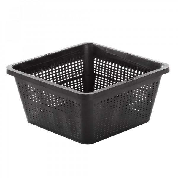 Kunststoff Wasserpflanzenkorb - schwarz - 19 x 19 x 9 cm