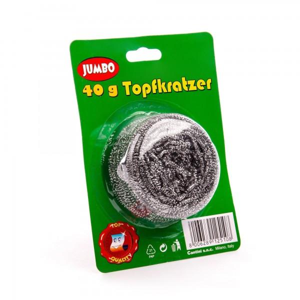 Topfkratzer aus rostfreiem Metall - 8 cm Durchmesser