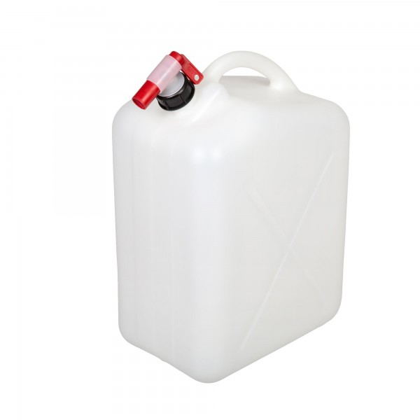 Wasserkanister 20 Liter mit Hahn - farblos